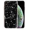 Marble Zwart Print Hardcase iPhone X / XS