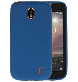 Navy Color TPU Hoesje Nokia 1