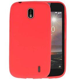 Rood Color TPU Hoesje Nokia 1
