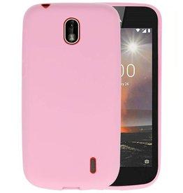 Roze Color TPU Hoesje Nokia 1