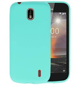 Turquoise Color TPU Hoesje Nokia 1