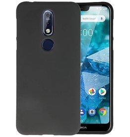 Zwart Color TPU Hoesje Nokia 7.1