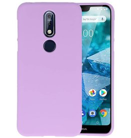 Paars Color TPU Hoesje Nokia 7.1
