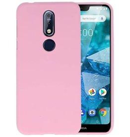 Roze Color TPU Hoesje Nokia 7.1