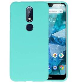 BackCover Hoesje Color Telefoonhoesje Nokia 7.1 - Turquoise