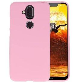 Roze Color TPU Hoesje Nokia 8.1
