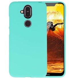 BackCover Hoesje Color Telefoonhoesje Nokia 8.1 - Turquoise