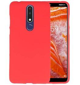 BackCover Hoesje Color Telefoonhoesje Nokia 3.1 Plus - Rood
