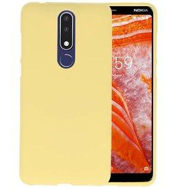 BackCover Hoesje Color Telefoonhoesje Nokia 3.1 Plus - Geel