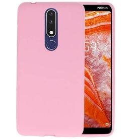 BackCover Hoesje Color Telefoonhoesje Nokia 3.1 Plus - Roze