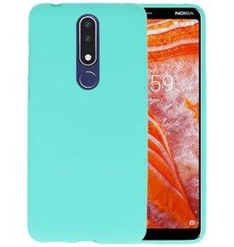BackCover Hoesje Color Telefoonhoesje Nokia 3.1 Plus - Turquoise