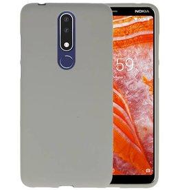 BackCover Hoesje Color Telefoonhoesje Nokia 3.1 Plus - Grijs