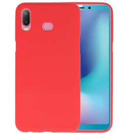 BackCover Hoesje Color Telefoonhoesje Samsung Galaxy A6s - Rood
