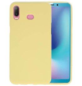 BackCover Hoesje Color Telefoonhoesje Samsung Galaxy A6s - Geel