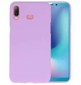 BackCover Hoesje Color Telefoonhoesje Samsung Galaxy A6s - Paars