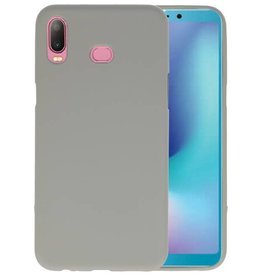 BackCover Hoesje Color Telefoonhoesje Samsung Galaxy A6s - Grijs