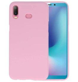 BackCover Hoesje Color Telefoonhoesje Samsung Galaxy A6s - Roze