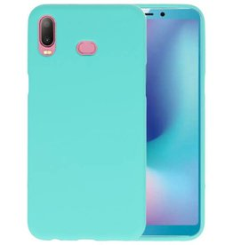 BackCover Hoesje Color Telefoonhoesje Samsung Galaxy A6s - Turquoise