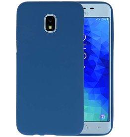 BackCover Hoesje Color Telefoonhoesje Samsung Galaxy J3 2018 - Navy