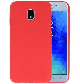 BackCover Hoesje Color Telefoonhoesje Samsung Galaxy J3 2018 - Rood