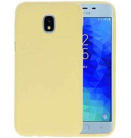 BackCover Hoesje Color Telefoonhoesje Samsung Galaxy J3 2018 - Geel