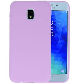 Paars Color TPU Hoesje Samsung Galaxy J3 2018