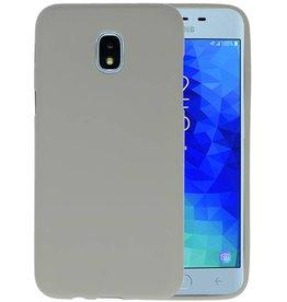 BackCover Hoesje Color Telefoonhoesje Samsung Galaxy J3 2018 - Grijs