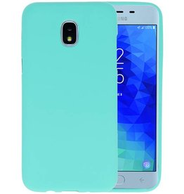 Turquoise Color TPU Hoesje Samsung Galaxy J3 2018