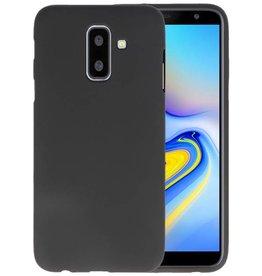 BackCover Hoesje Color Telefoonhoesje Samsung Galaxy A6 Plus - Zwart