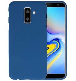 BackCover Hoesje Color Telefoonhoesje Samsung Galaxy A6 Plus - Navy