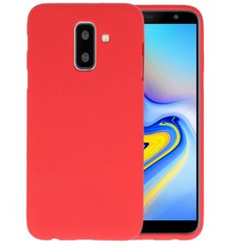 Rood Color TPU Hoesje Samsung Galaxy A6 Plus