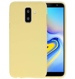 Geel Color TPU Hoesje Samsung Galaxy A6 Plus