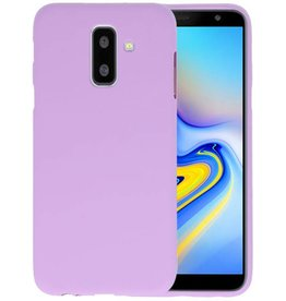 Paars Color TPU Hoesje Samsung Galaxy A6 Plus