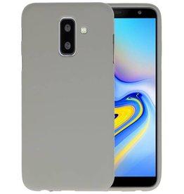 BackCover Hoesje Color Telefoonhoesje Samsung Galaxy A6 Plus - Grijs