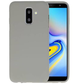 Grijs Color TPU Hoesje Samsung Galaxy A6 Plus