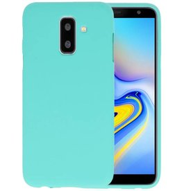 BackCover Hoesje Color Telefoonhoesje Samsung Galaxy A6 Plus - Turquoise