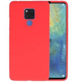 Rood Color TPU Hoesje Huawei Mate 20 X