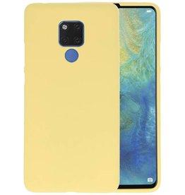 Geel Color TPU Hoesje Huawei Mate 20 X