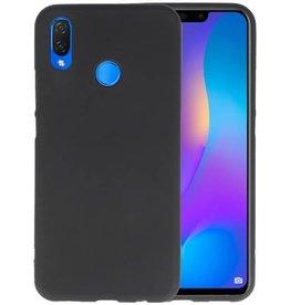 BackCover Hoesje Color Telefoonhoesje Huawei P Smart Plus - Zwart