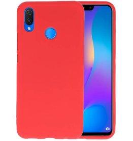 BackCover Hoesje Color Telefoonhoesje Huawei P Smart Plus - Rood