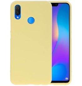 BackCover Hoesje Color Telefoonhoesje Huawei P Smart Plus - Geel