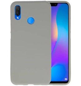 BackCover Hoesje Color Telefoonhoesje Huawei P Smart Plus - Grijs