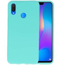 BackCover Hoesje Color Telefoonhoesje Huawei P Smart Plus - Turquoise