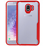 Rood Focus Transparant Hard Cases Samsung Galaxy J4