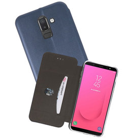 Slim Folio Case voor Galaxy J8 2018 Navy