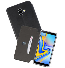 Zwart Slim Folio Case Samsung Galaxy J6 Plus