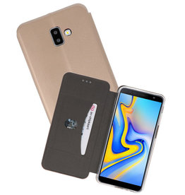 Goud Slim Folio Case Samsung Galaxy J6 Plus