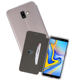 Grijs Slim Folio Case Samsung Galaxy J6 Plus