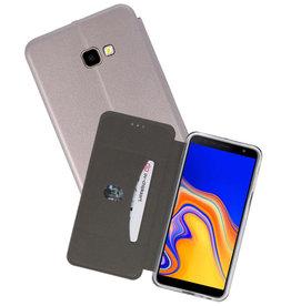 Grijs Slim Folio Case Samsung Galaxy J4 Plus
