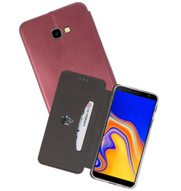 Bordeaux Rood Slim Folio Case Samsung Galaxy J4 Plus